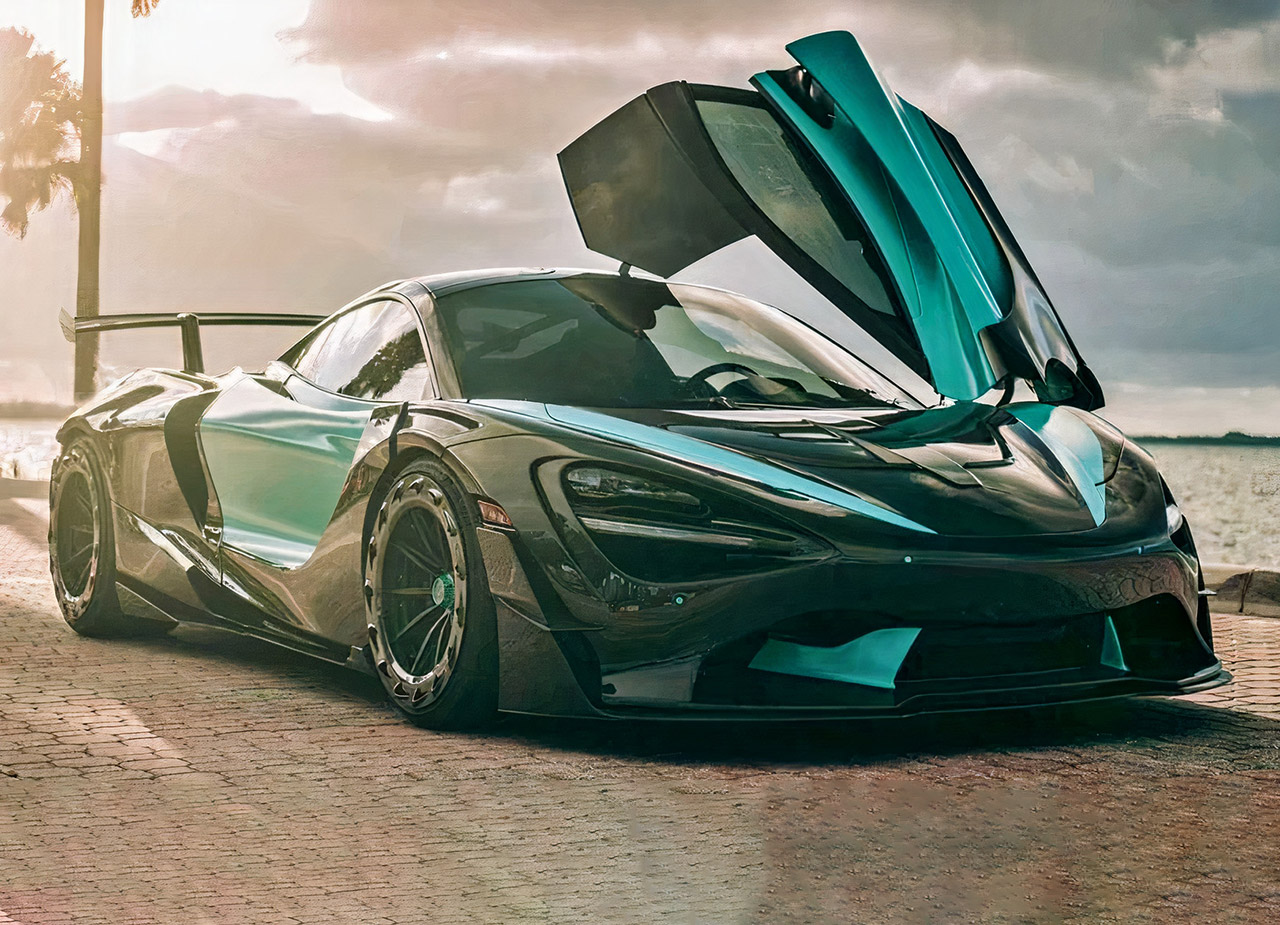 1016 Industries 3D-Printed Exposed Carbon Fiber Kit McLaren 720S