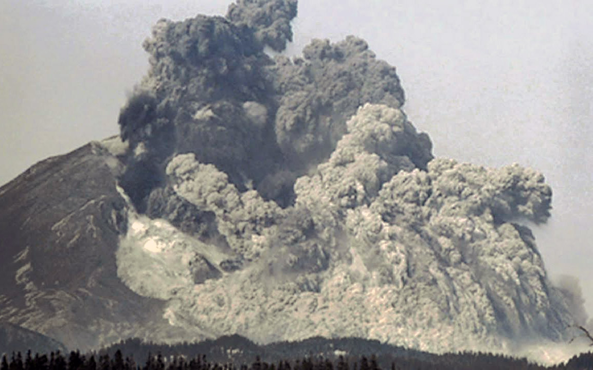 1980 Eruption of Mount St. Helens Volcano Anniversary