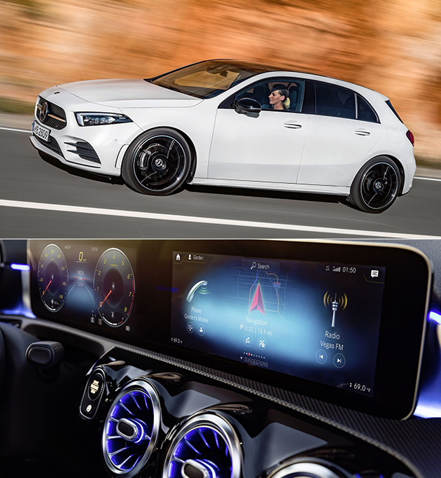 2018 Mercedes-Benz A-Class Includes MBUX Voice Assistant