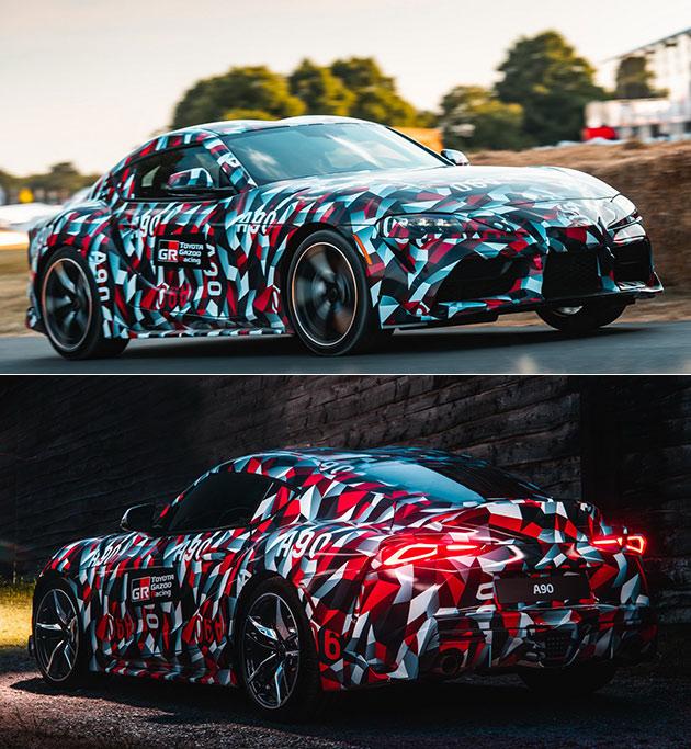 2019 Toyota Supra And Bmw Z4: 2019 Toyota Supra Macht Offiziellen Debüt Beim Goodwood