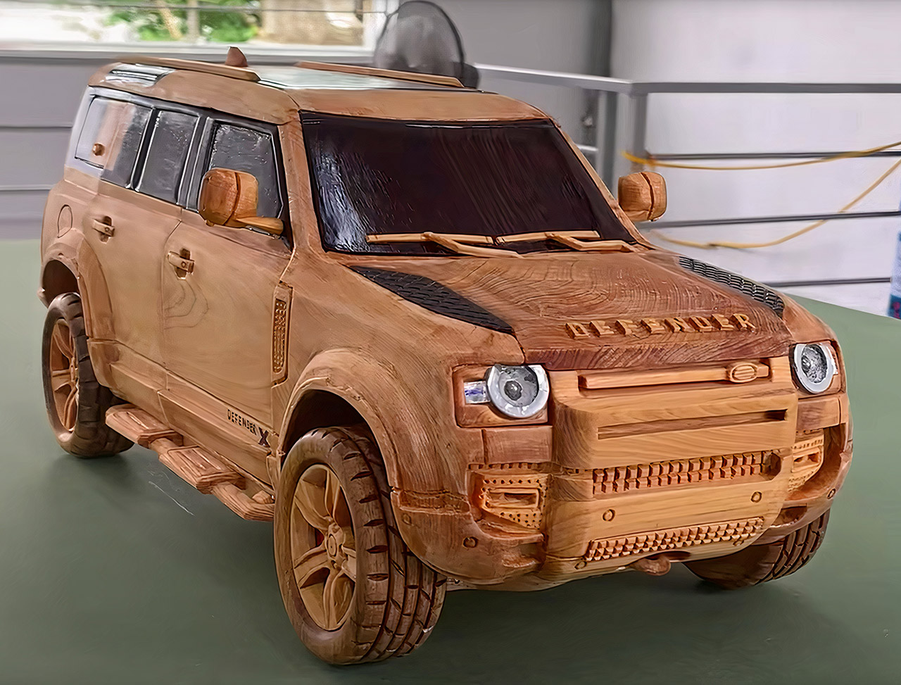 2021 Land Rover Defender 110 X Wood Carving