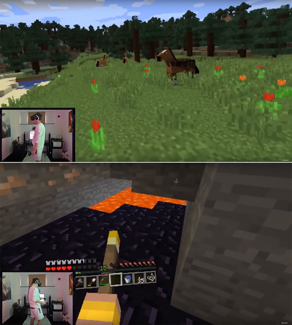 24-Hours in VR Minecraft