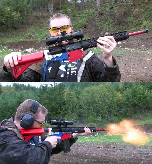 3D-Printed AR15 Rifle