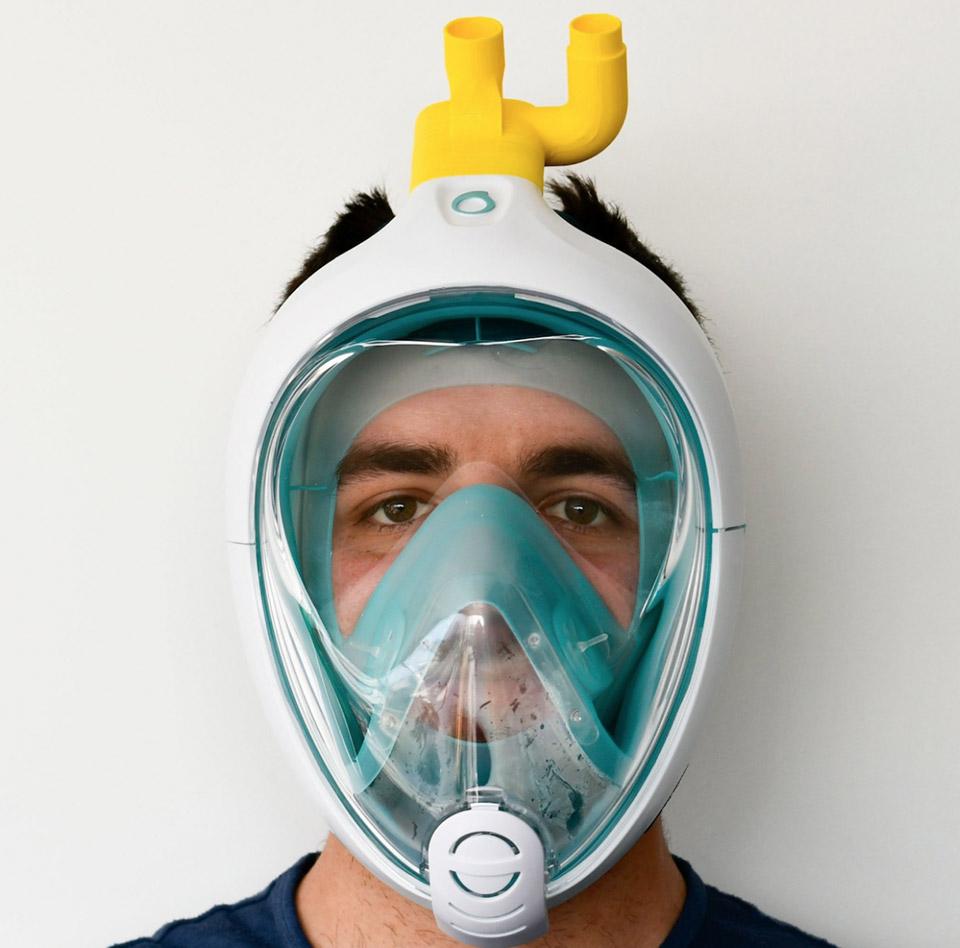 3D-Printed Charlotte Valve Snorkel Mask Ventilator