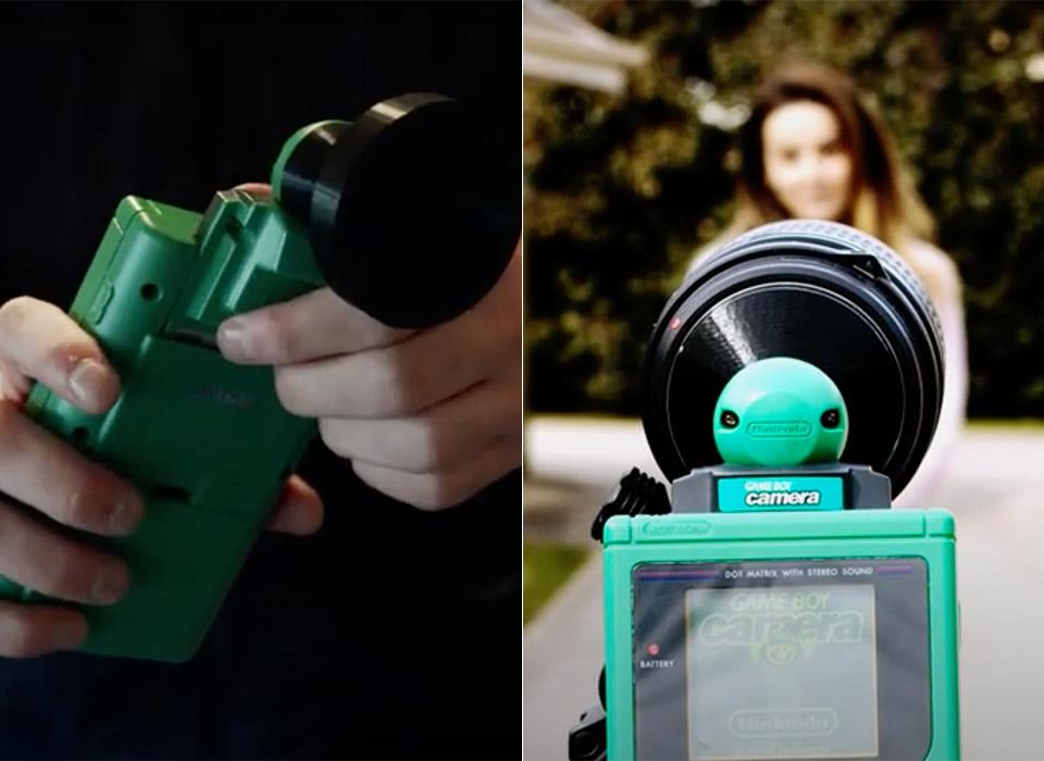 3D-Printed DSLR Lens Adapter Game Boy Camera