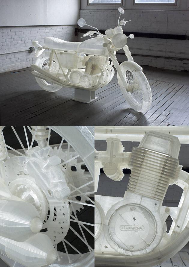 3D-Printed Honda Motorcycle