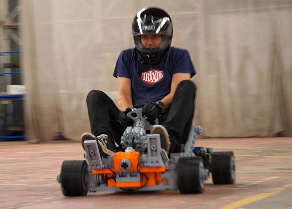 3D-Printed LEGO Go-Kart
