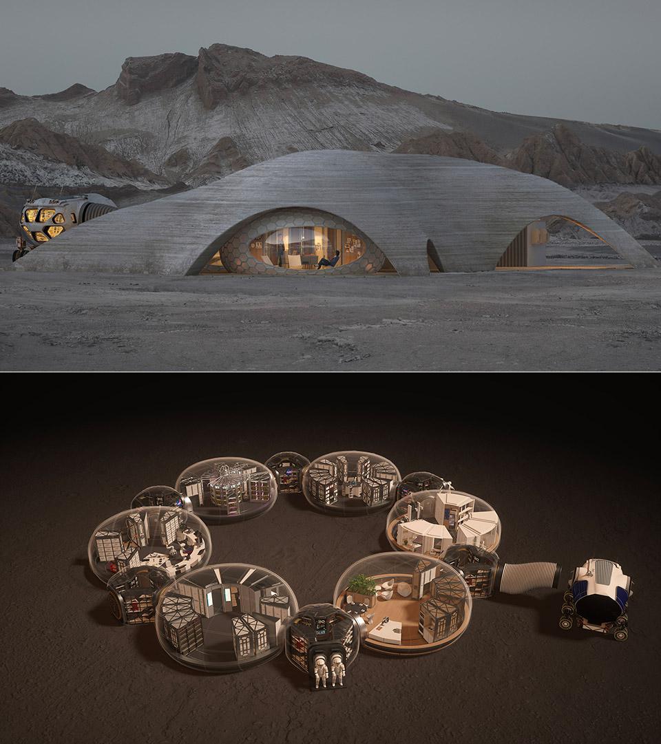 3D-Printed Mars Habitat Autonomous Robot