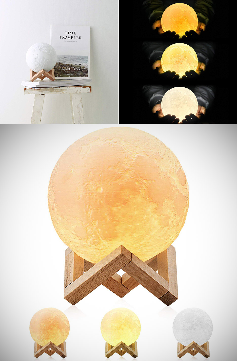 3D-Printed Moon Lamp