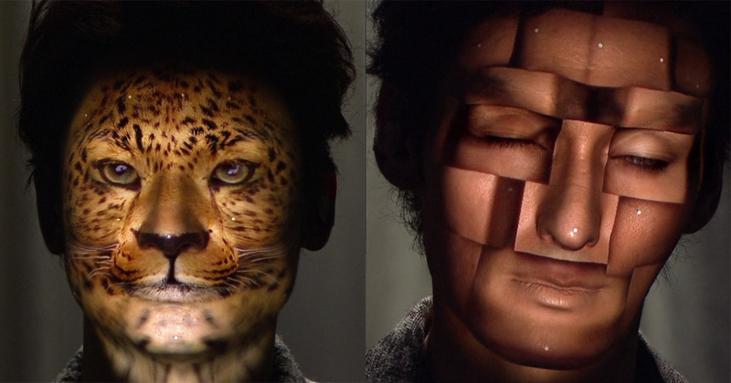 3D Projection Mapping faces