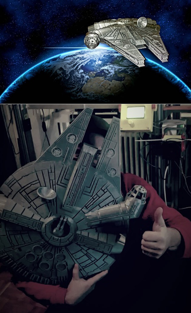 Awesome 3D-Printed Millennium Falcon Took 6.6-Pounds of Filament to Complete