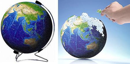 3d地球仪拼图