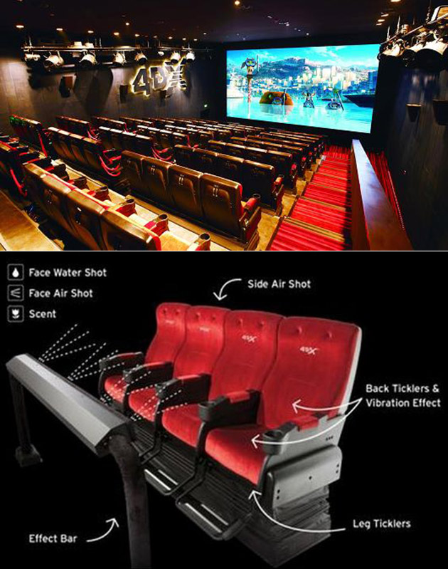 4DX Movie Theaters Have Moving Seats, Complete with Wind, Scents and Lightning Effects
