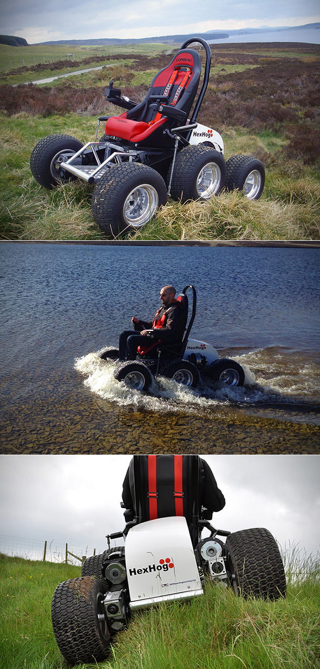 6-Wheeled All-Terrain Wheelchair