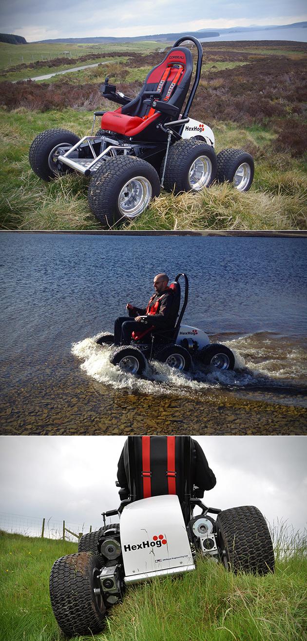 6-Wheeled All-Terrain Wheelchair