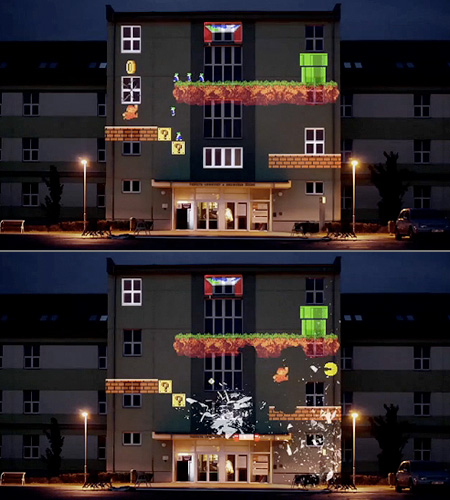 8 Bit Invader The Apartment Building Turned Retro Video Game