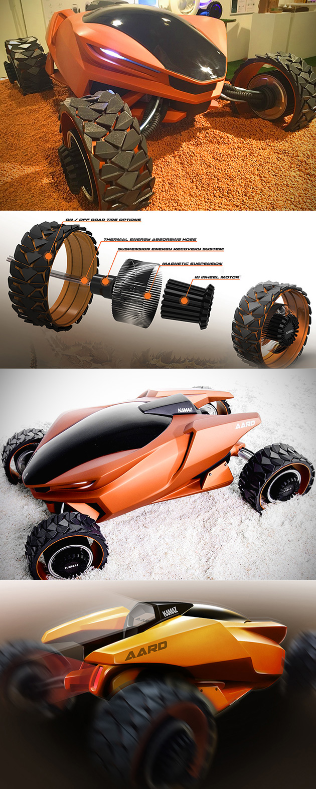 AARD Quad Bike Looks Like Something Straight from the Red Planet