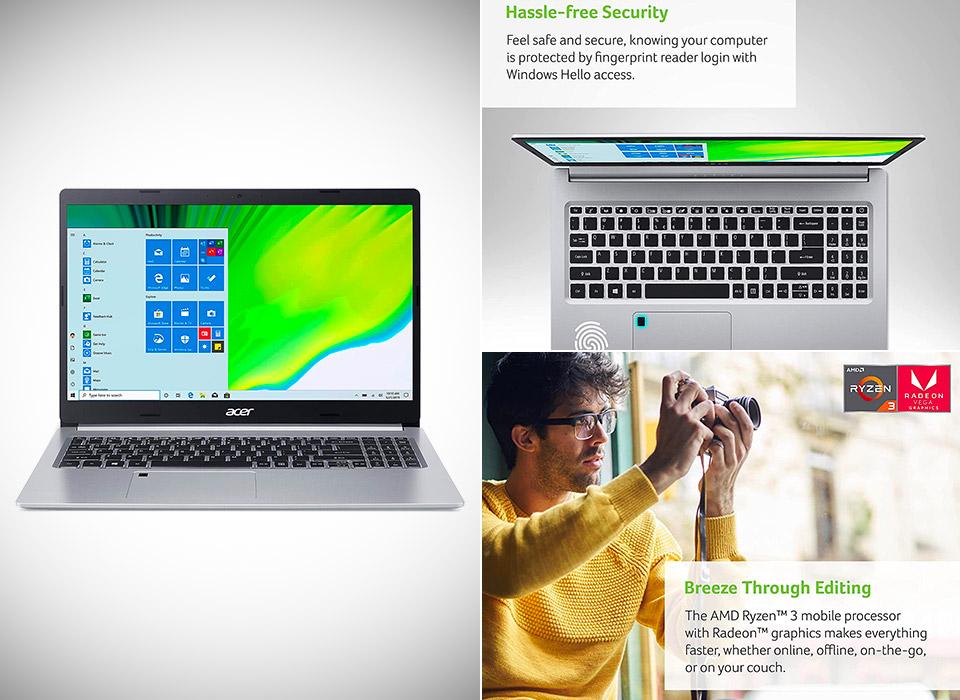 Acer Aspire 5 A515-46-R14K Slim Laptop AMD Ryzen 3