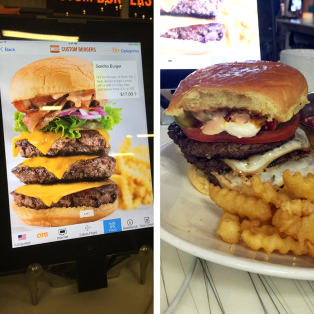 Ad vs. Reality Food