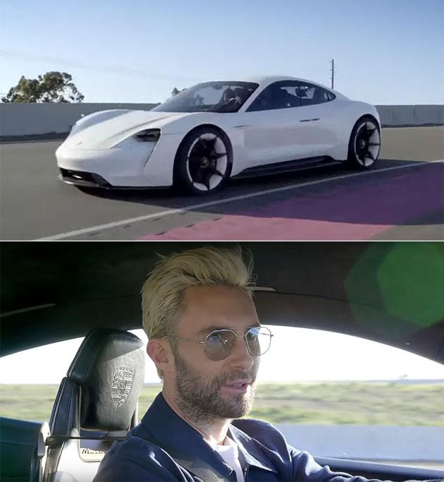 Adam Levine Porsche Mission E