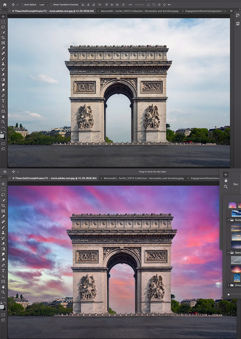 Adobe Photoshop Sky eEplacement