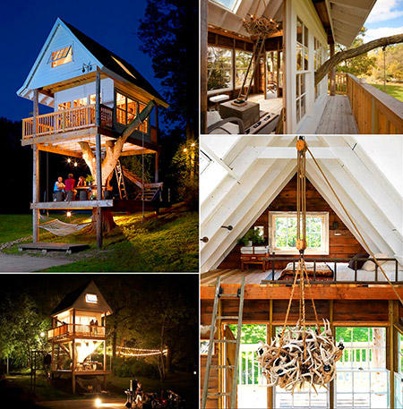 10 Awesome Tree Houses Designed For Adults Techeblog