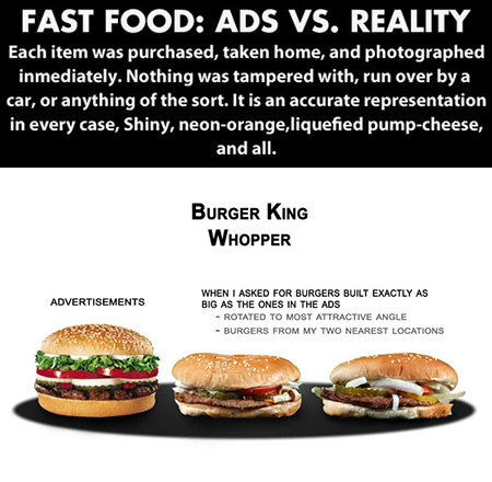 18 Fast Foods Ads vs  Reality Show Just How Different They