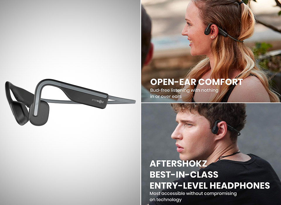 AfterShokz OpenMove Bone Conduction Headphones