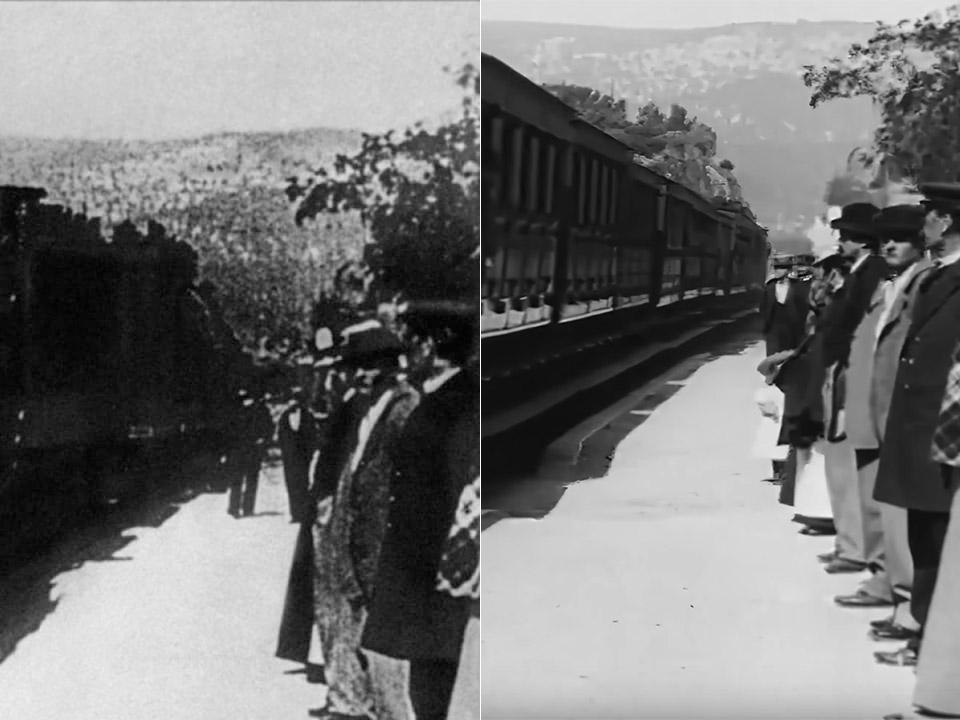 AI Arrival of Train 1896 4K