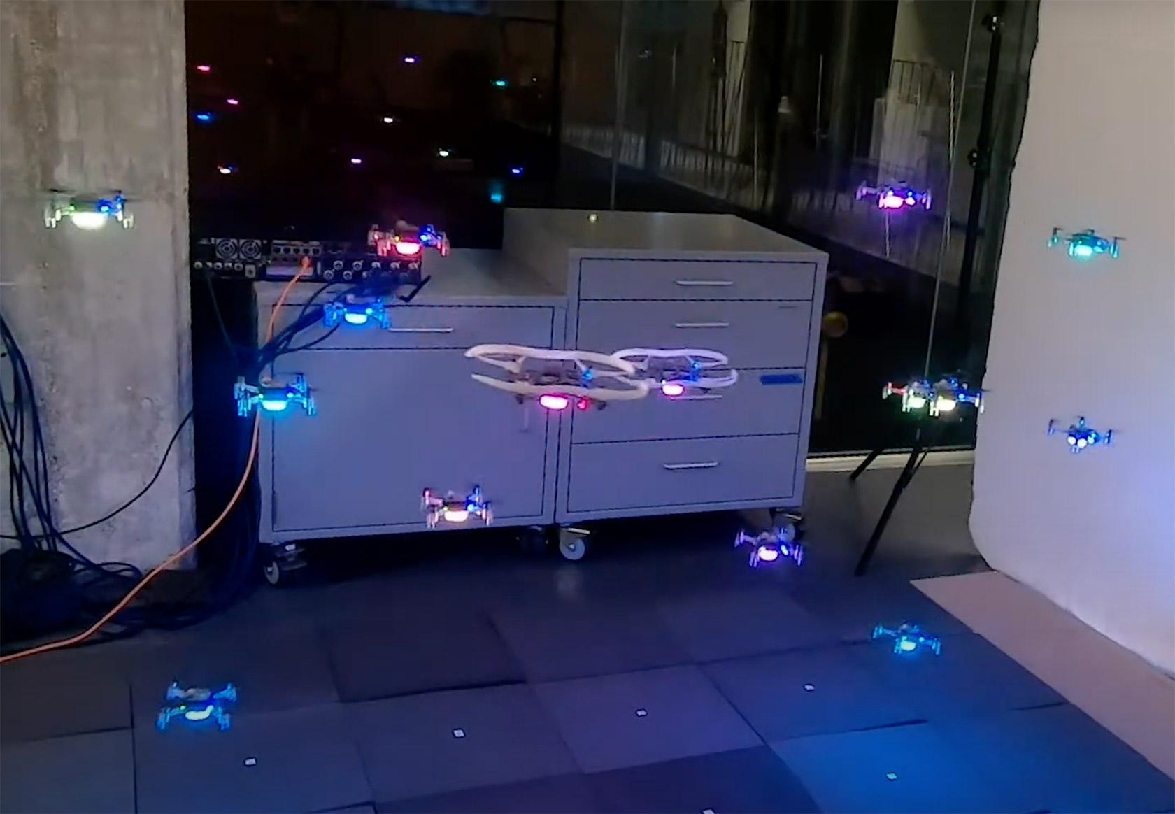 AI Drone Swarm Behaviour