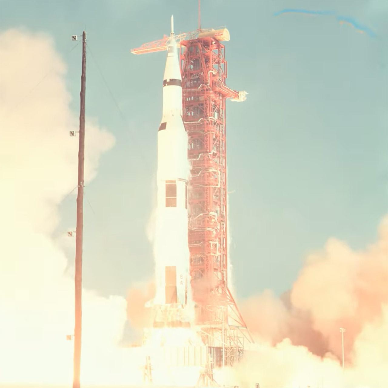 AI Upscale Enhance Apollo 11 Launch