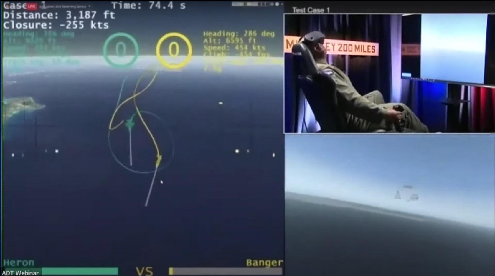 AI Human F-16 AlphaDogFight Trials