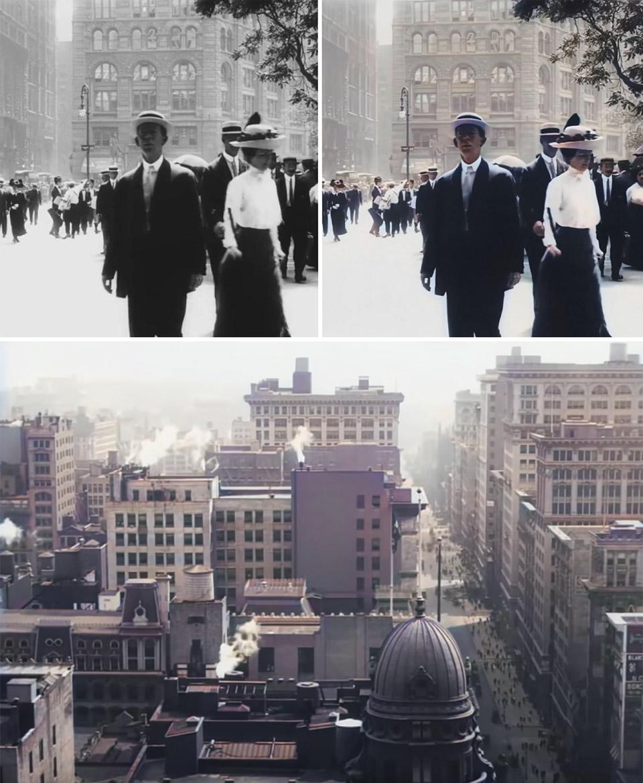 AI Trip Through New York 1911