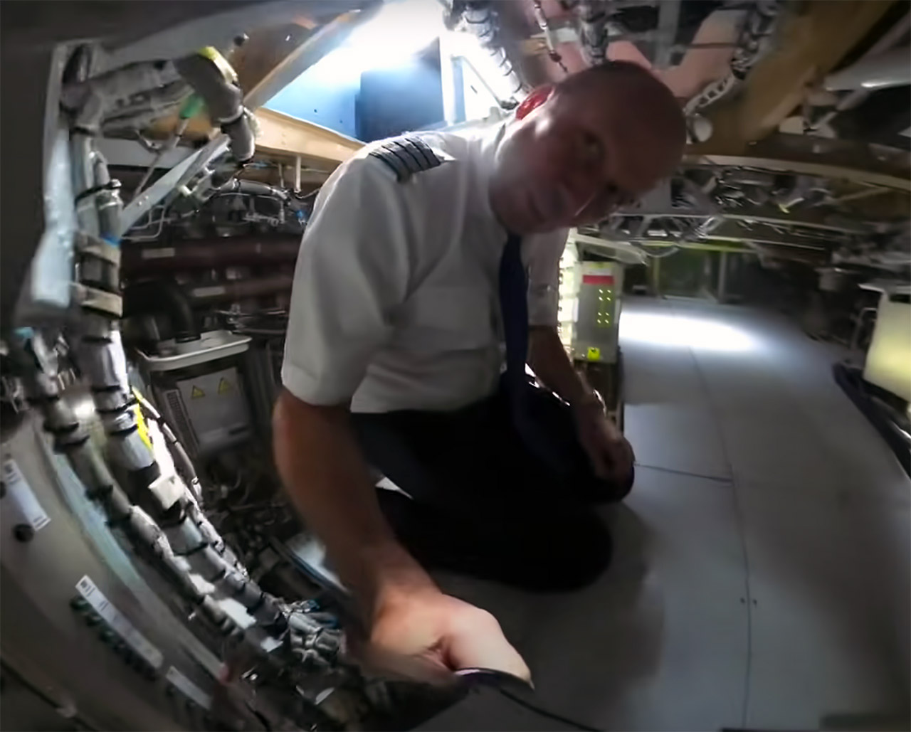 Airbus A350 Electronics Server Room Pilot Bed