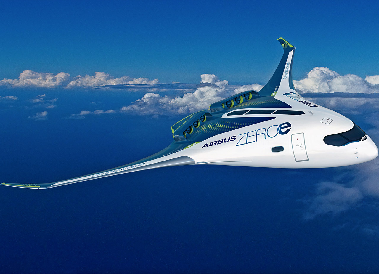 Airbus MAVERIC Blended Wing Aircraft Hydrogen Power