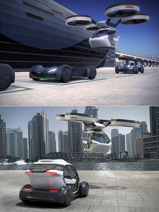 airbus unveils pop up a flying electric car that can be airlifted by a smartphone controlled. Black Bedroom Furniture Sets. Home Design Ideas