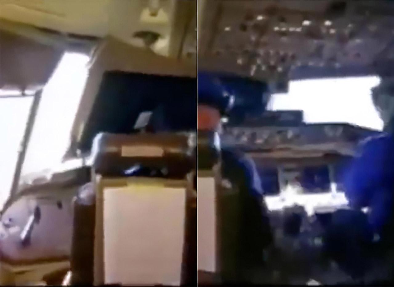 Airplane Cockpit Window Pilot Open Takeoff