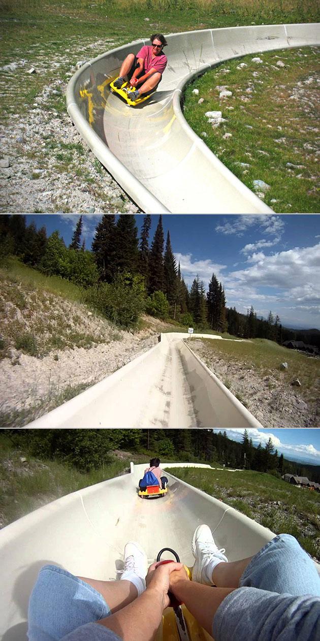 Alpine Slide Whitefish Resort