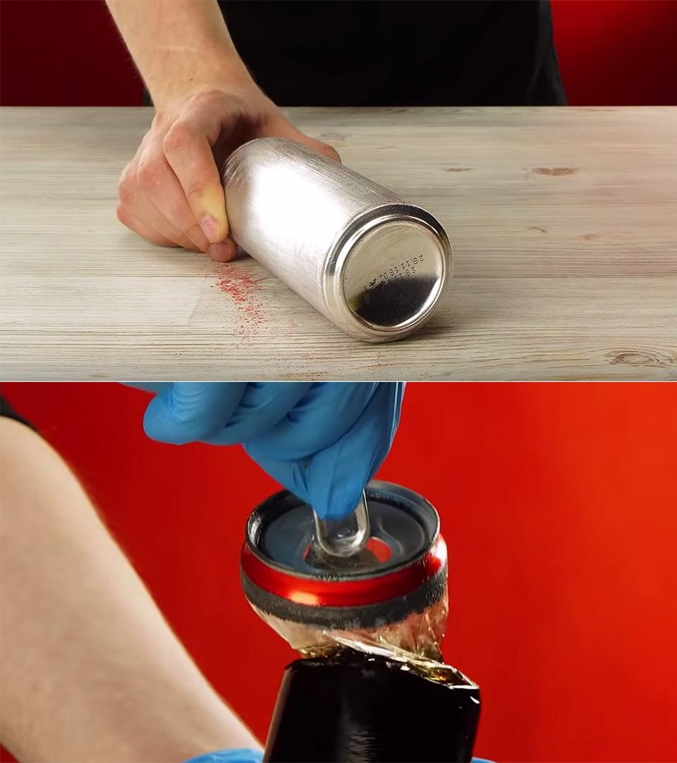 Aluminum Soda Can Dissolve Lining