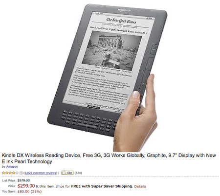 Amazon kindle dx deals