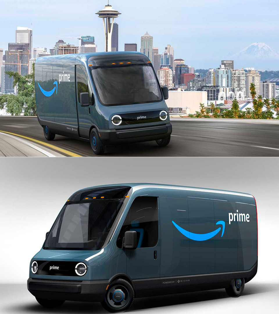 Amazon Rivian Electric Delivery Truck