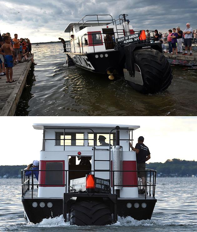 Amphibious Houseboat