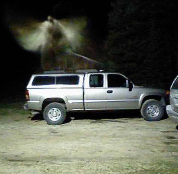 Angel Above Truck