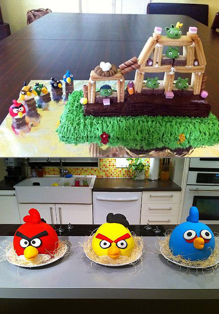 10 Cool and Creative Angry Birds Cakes TechEBlog