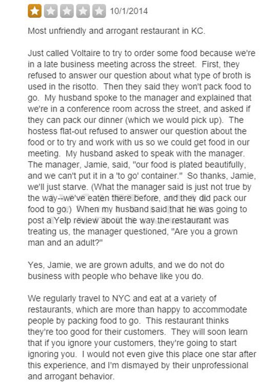 Angry Yelp Review