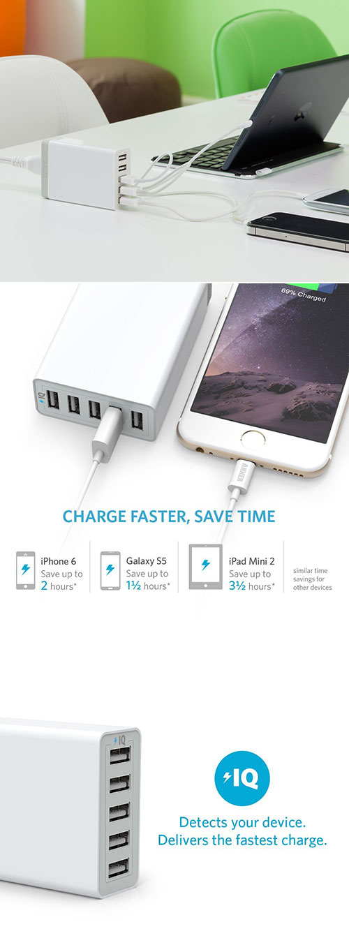 Anker 5-Port Desktop Charger