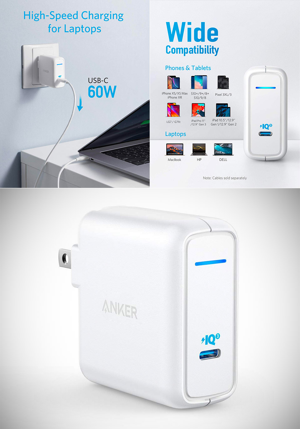 Anker 60W USB-C Charger GAN