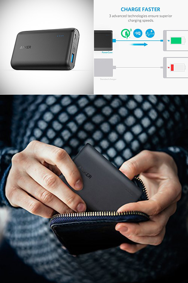 Anker PowerCore Speed 10000 Power Bank Has Quick Charge 3.0 Technology, Get One for $24.99