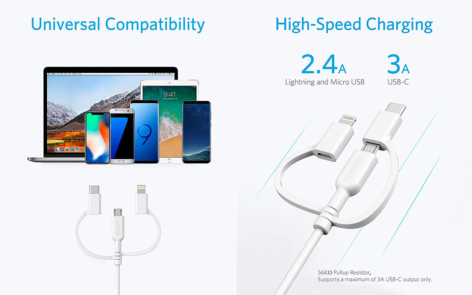 Anker's Powerline II 3-in-1 Cable