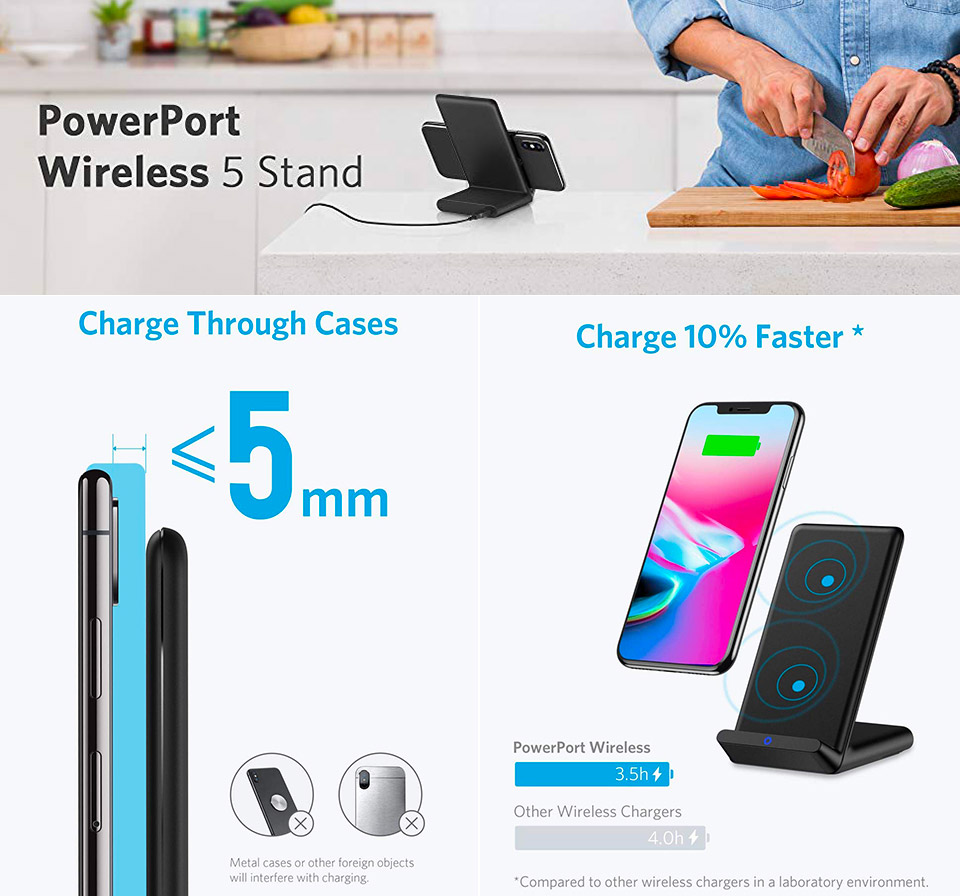 Anker Powerport Wireless 5 Charginng Stand
